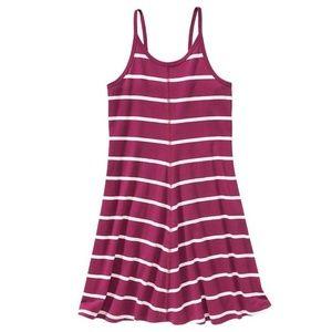 Girls Plum Striped Jersey Cami Summer Dress NWT